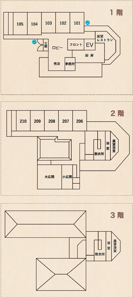 館内図 INSIDE THE HALL